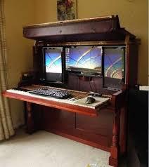 Computer Desk Amazing Redesign Repurposing Piano Into Computer Desk And