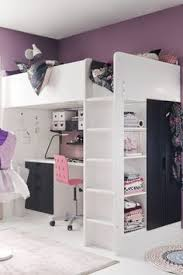 Loft Bed With Closet Underneath Loft Bed Great Space Saver I Wonder If My Kids Would Like This