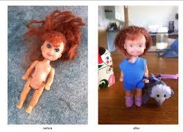 woman giving bratz dolls major