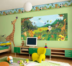 wall theme awesome preschool rooms amazing kids bedroom jungle theme wall