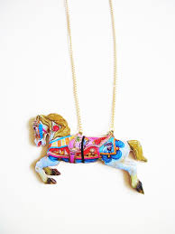 horse necklace pendant images Carousel horse necklace horse necklace wooden necklace pendant jpg