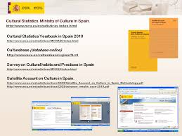 online yearbook database cultural statistics in spain the experience workshop on
