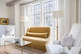 alyssa rosenheck mustard yellow velvet sofa transitional bedroom
