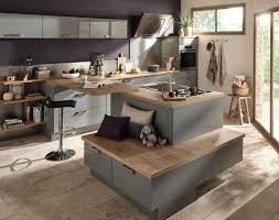 ilot centrale de cuisine modele cuisine avec ilot central table idée de modèle de cuisine