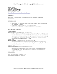 Dance Resume Examples by Dance Resume Example Resume Endorsement Samples Choreographer