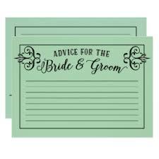 Advice To Bride And Groom Cards Wedding Advice Cards U0026 Invitations Zazzle Co Uk