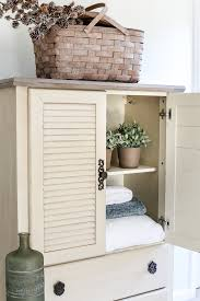 Armoire Changing Table Faux Antique Shutter Armoire Makeover