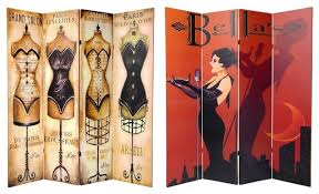 Canvas Room Divider 6 U0027 Tall Double Sided Mannequin And Singer Canvas Room Divider 4