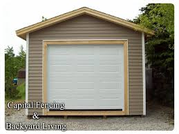 Overhead Shed Doors Shed S Capital Fencing And Backyard Living