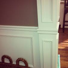 a peek into chic diy wainscoting