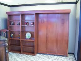 Sliding Bookcase Murphy Bed 4 Real Wood Custom Furniture Clearwater Gulfport Oldsmar St