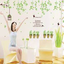 compare prices on family tree life online shopping buy low price new 105 150cm green family tree pot cage warm living room bedroom decorative wall stickers