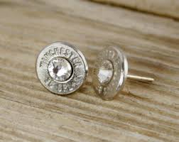 bullet stud earrings bullet stud earrings winchester 40 caliber sterling silver