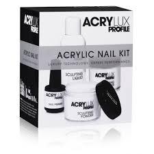 salon system acrylux profile acrylic nail kit professional set uv