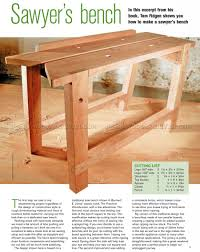 1642 sawyers bench plans woodworking hand tools workshop