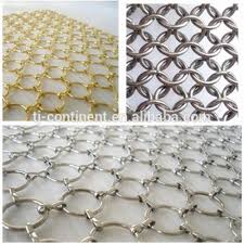 stainless steel metal ring screen mesh decorative gold metal mesh