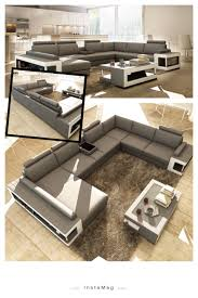 grey fabric modern living room sectional sofa w wooden legs grey and white leather sectional sofa w coffee table features a