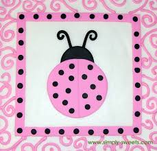 Ladybug Themed Baby Shower Cakes - pink and black ladybug themed baby shower cake top view flickr