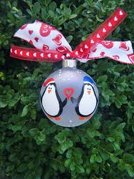 Personalized Wedding Ornament Penguin Couple Just Married Personalized Wedding Ornament