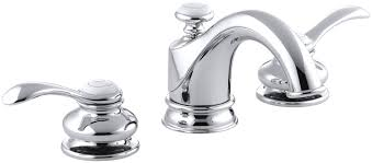 bathroom sink faucets amazon kohler k 12265 4 cp fairfax widespread lavatory faucet polished