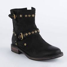 womens ugg motorcycle boots womens ugg australia fabrizia boots suede ankle booties black