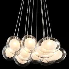 Multi Globe Pendant Light Hena Layer Oval Glass Shaded Multi Pendant Light