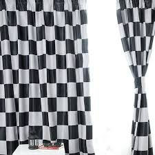 Black And White Window Curtains Black And White Kitchen Curtains Teawing Co
