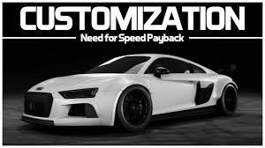 audi r8 slammed need for speed payback preview customization audi r8 v10 plus