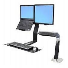 Desk Mount Laptop Stand Ergotron Workfit A Lcd Laptop Stand Tray Articulating Arm