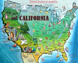 california map in usa california usa digital by kevin middleton