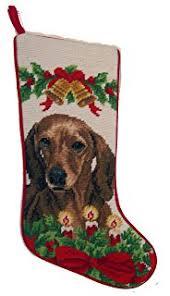 amazon com sandicast red dachshund with santa hat christmas