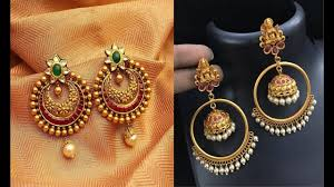 gold earrings for marriage indian jewellery gold earrings for marriage