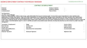 project manager employment contract