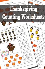 thanksgiving counting worksheets itsy bitsy