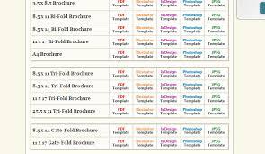 6 tri fold brochure template indesign af templates