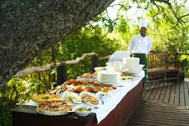 outdoor buffet on safari jpg