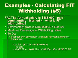 W 4 Withholding Table Chapter 4 Income Tax Withholding Developed By Lisa Swallow Cpa