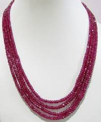 multi strand necklace images Ruby necklace multi strand at rs 6500 piece ratna ke mankon jpg