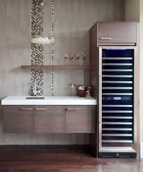 wine fridge cabinet home bar contemporary with glass chandelier