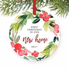amazon com new home christmas ornament 2017 first year in our