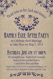 post wedding reception wording exles rustic burlap linen post wedding or elopement celebration