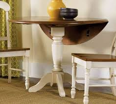 White Round Kitchen Table by Drop Leaf Round Dining Table Inspirations And White Kitchen Images