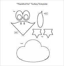 free turkey templates u2013 happy thanksgiving