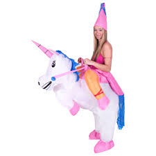 Halloween Unicorn Kid Inflatable Unicorn Costume Blow Up Halloween Party Ride