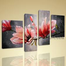 canvas wall art tulip flower abstract floral painting giclee print