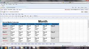 social media content calendar template salesfusion excel saneme