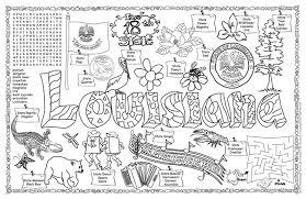 Louisiana State Symbols Coloring Pages gallopade international louisiana symbols facts funsheet pack of 30