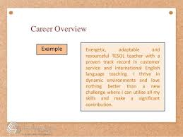 Career Overview Resume Resume Summary Statement Examples Customer Service Template