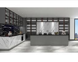 aluminum glass kitchen cabinet doors new design luxury glass mix grey matt lacquer doors kitchen cabinet