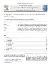 tar reduction in biomass producer gas via mechanical catalytic